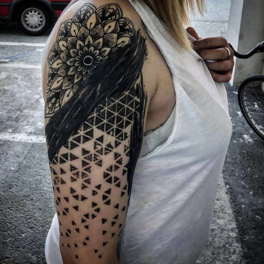 Abstract Geometric Arm Tattoo